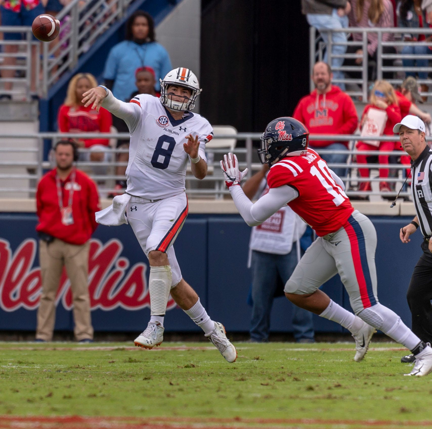 Ole Miss defense falters in second half, Rebels lose to Auburn 31-16