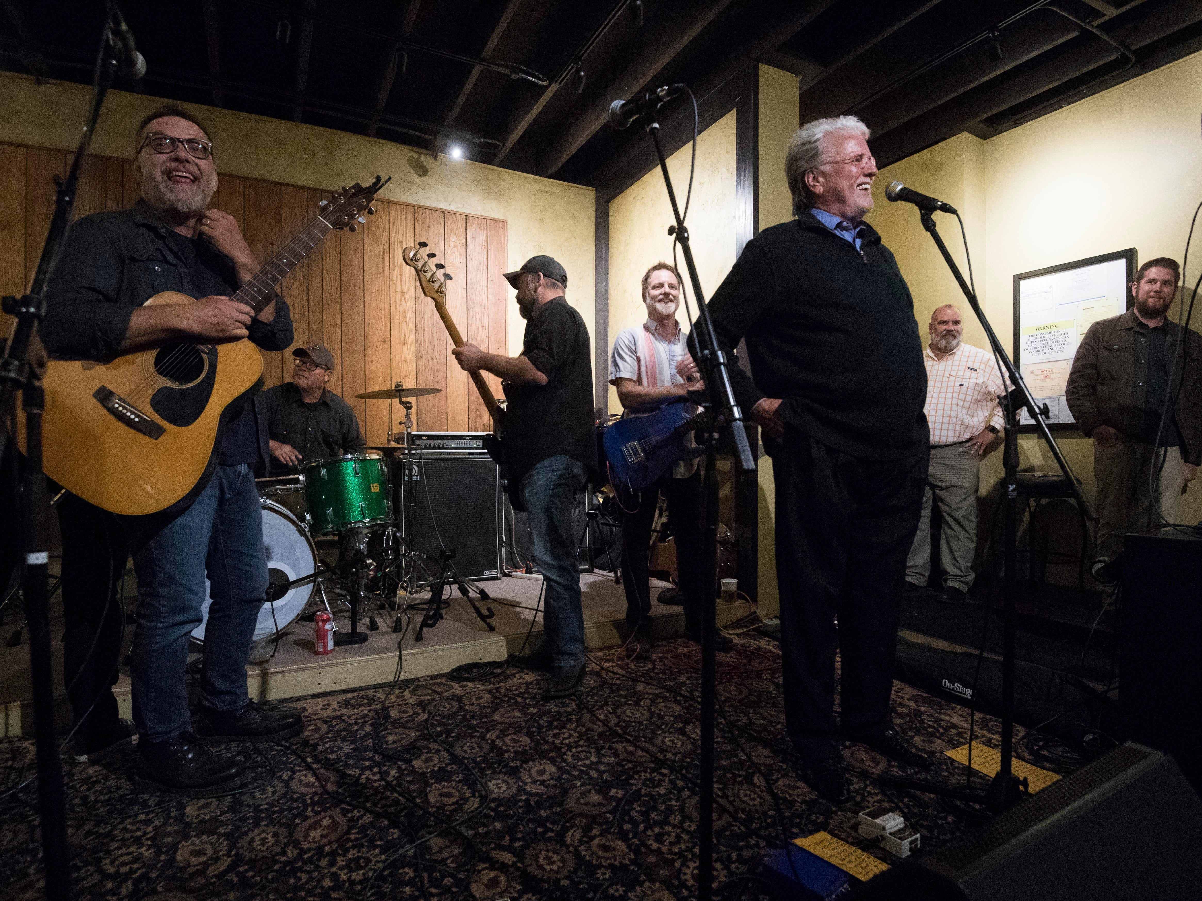 Con Hunley tells stories of the times he played at The Corner Lounge on Friday, October 19, 2018.