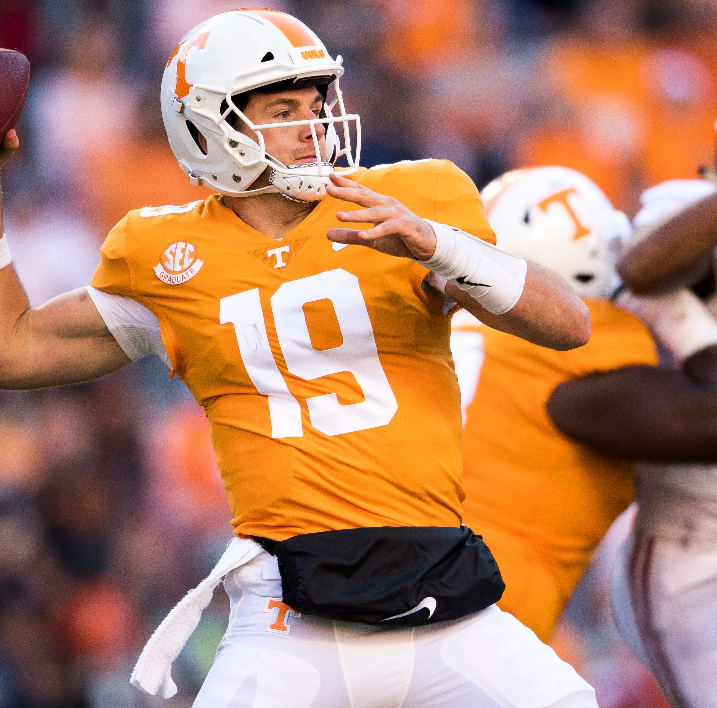 Jarrett Guarantano out with injury, Keller Chryst enters for UT Vols vs. Missouri