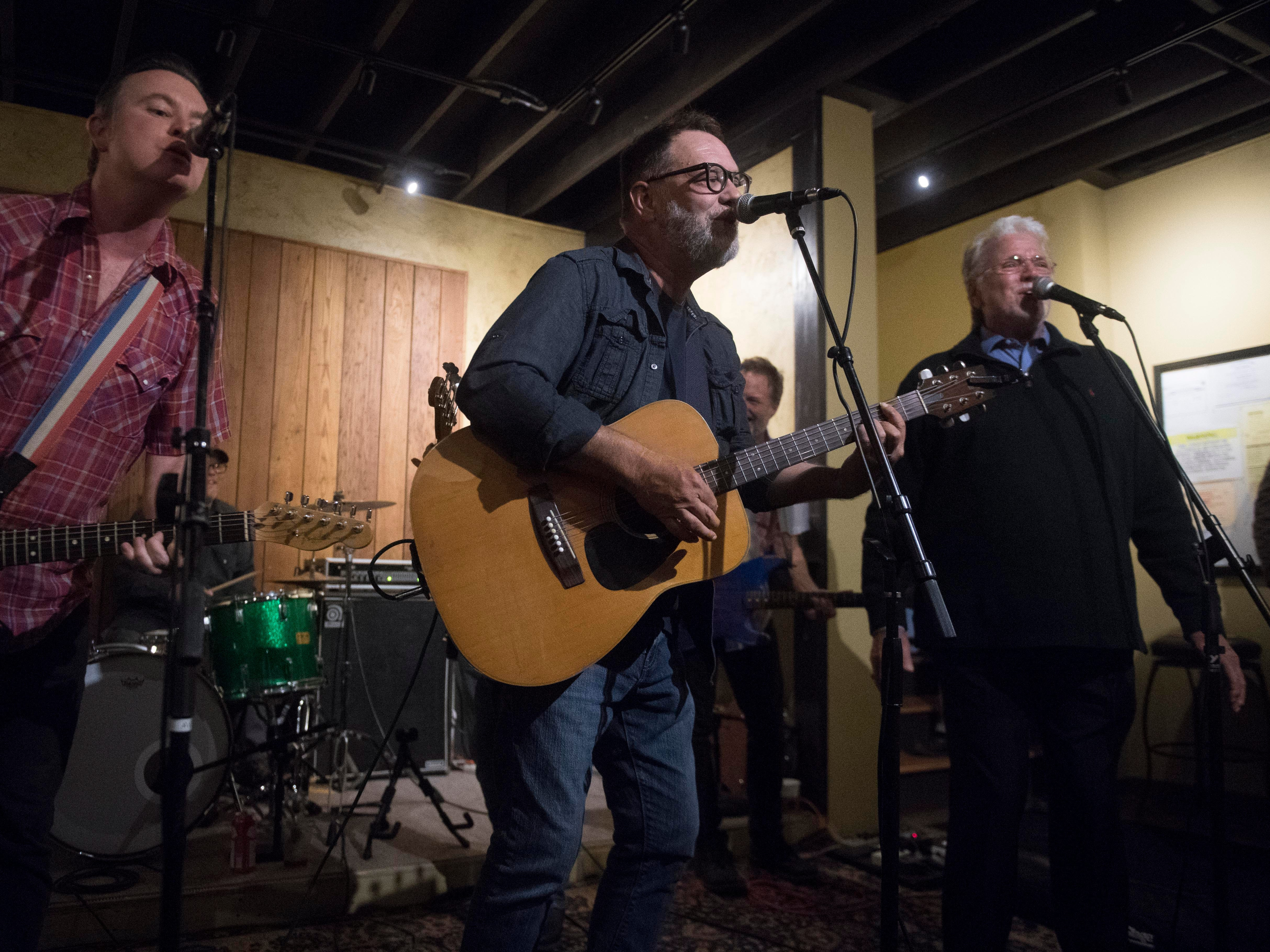 Mic Harrison and the High Score perorms with Con Hunley at The Corner Lounge on Friday, October 19, 2018.