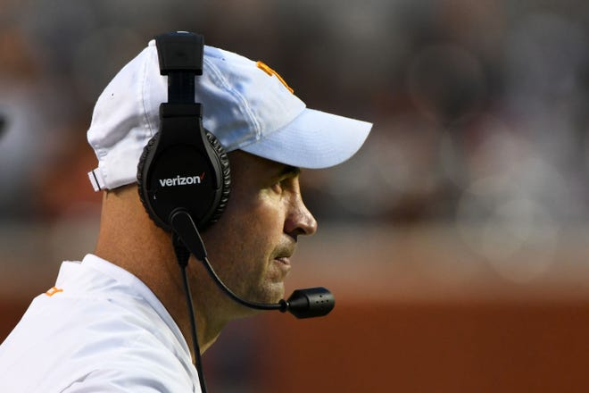 Tennessee Head Coach Jeremy Pruitt during second half of their 58-21 loss to Alabama Saturday, October 20, 2018 at Neyland Stadium in Knoxville, Tenn.
