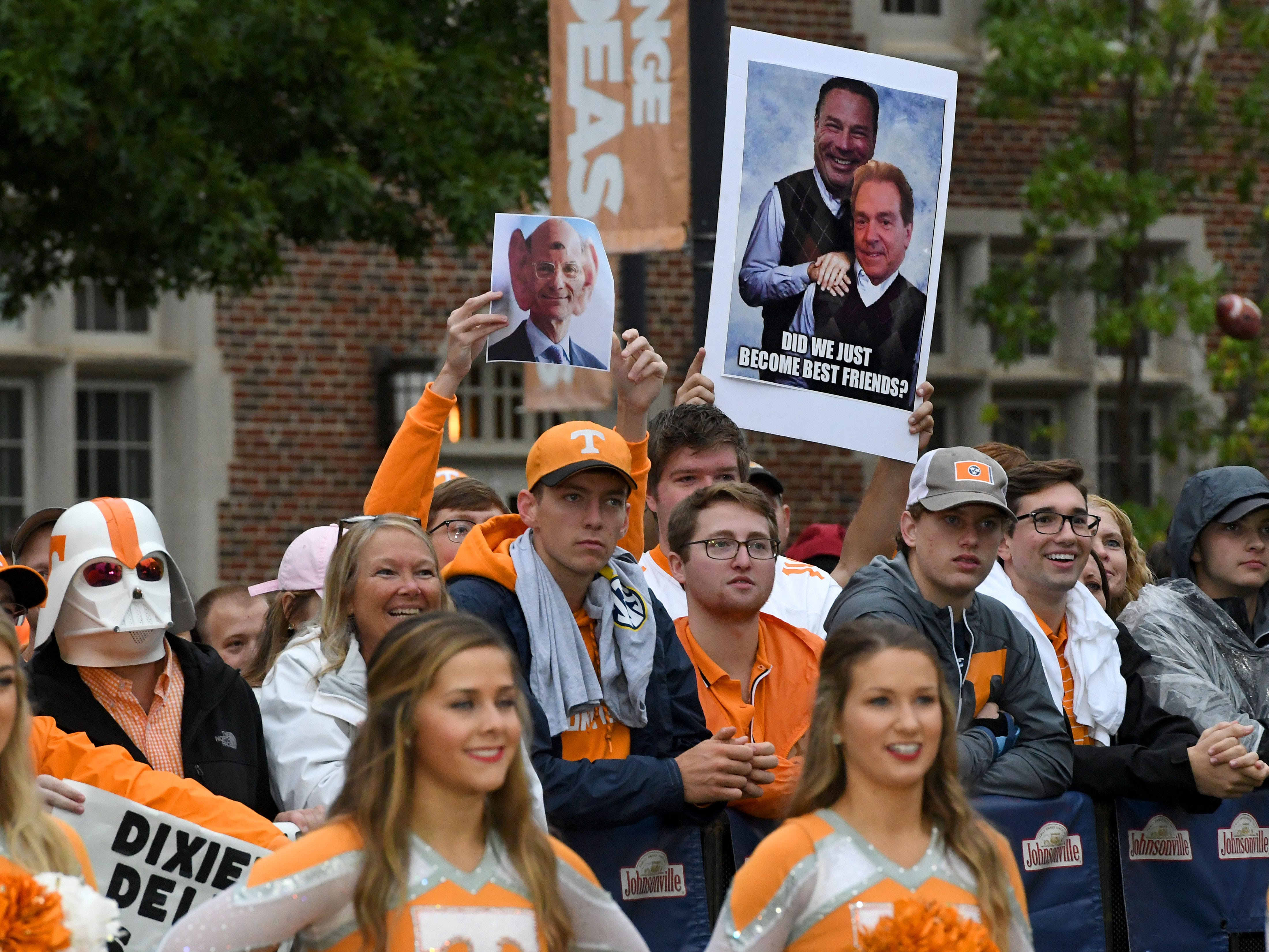 Tennessee fans during the SEC Nation show at Ayers Hall before the Alabama game Saturday, October 20, 2018 at Neyland Stadium in Knoxville, Tenn.