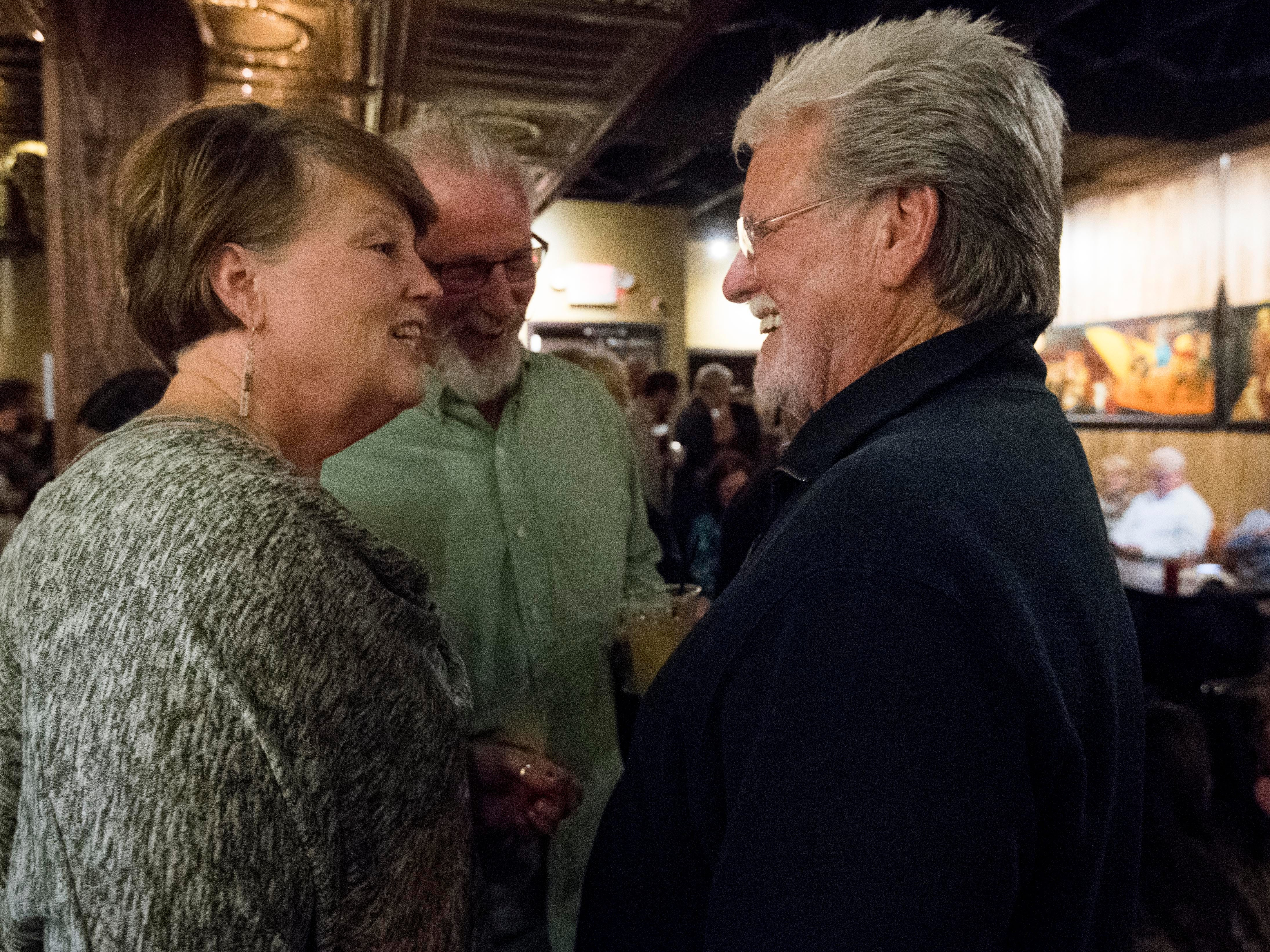 Con Hunley meets with fans after his show at The Corner Lounge on Friday, October 19, 2018.