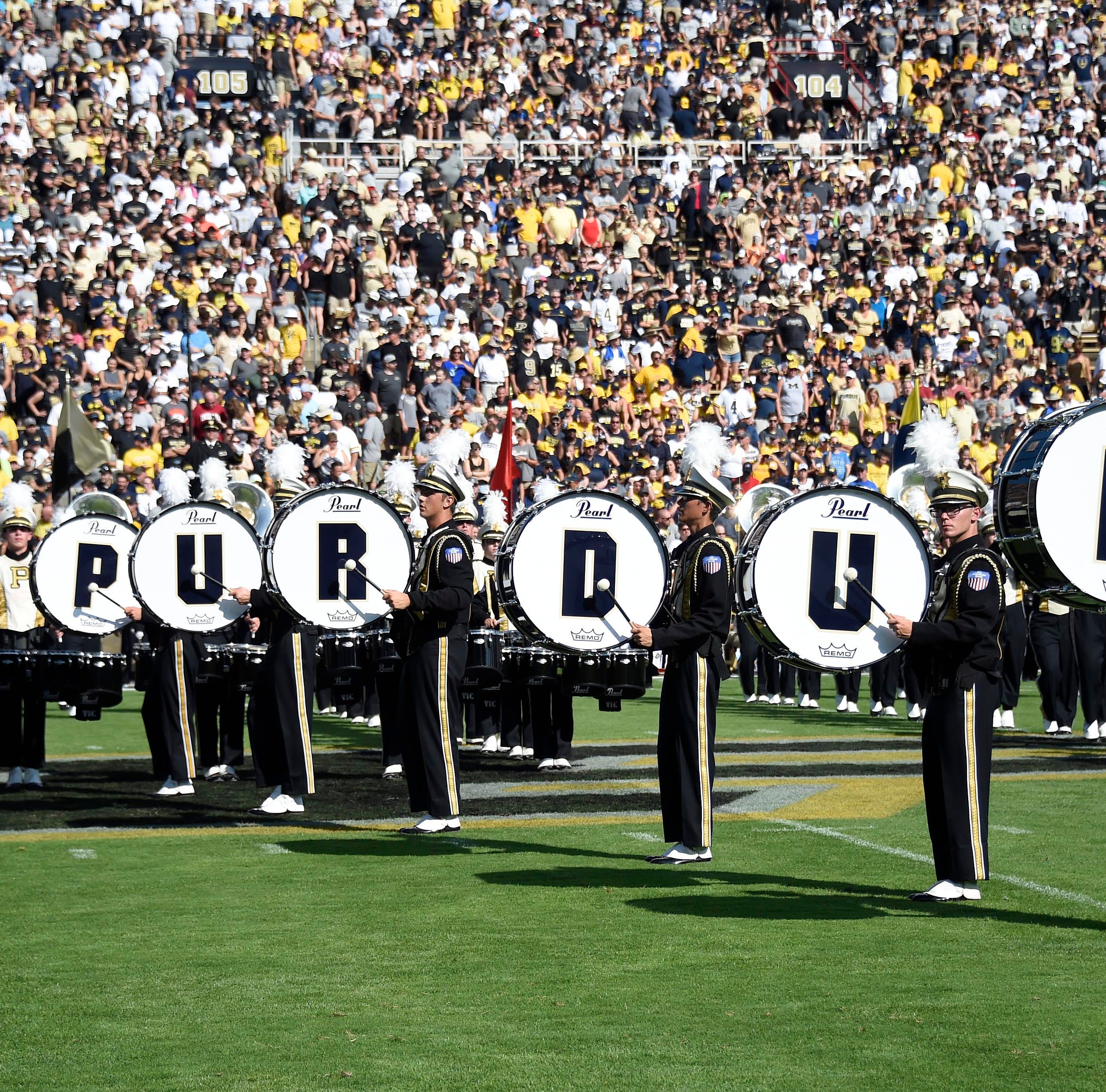 Sep 23, 2017; West Lafayette, IN, USA; Purdue Bandsmen prior to the game between the Michigan Wolverines and the Purdue Boilermakers at Ross-Ade Stadium. Mandatory Credit: Sandra Dukes-USA TODAY Sports