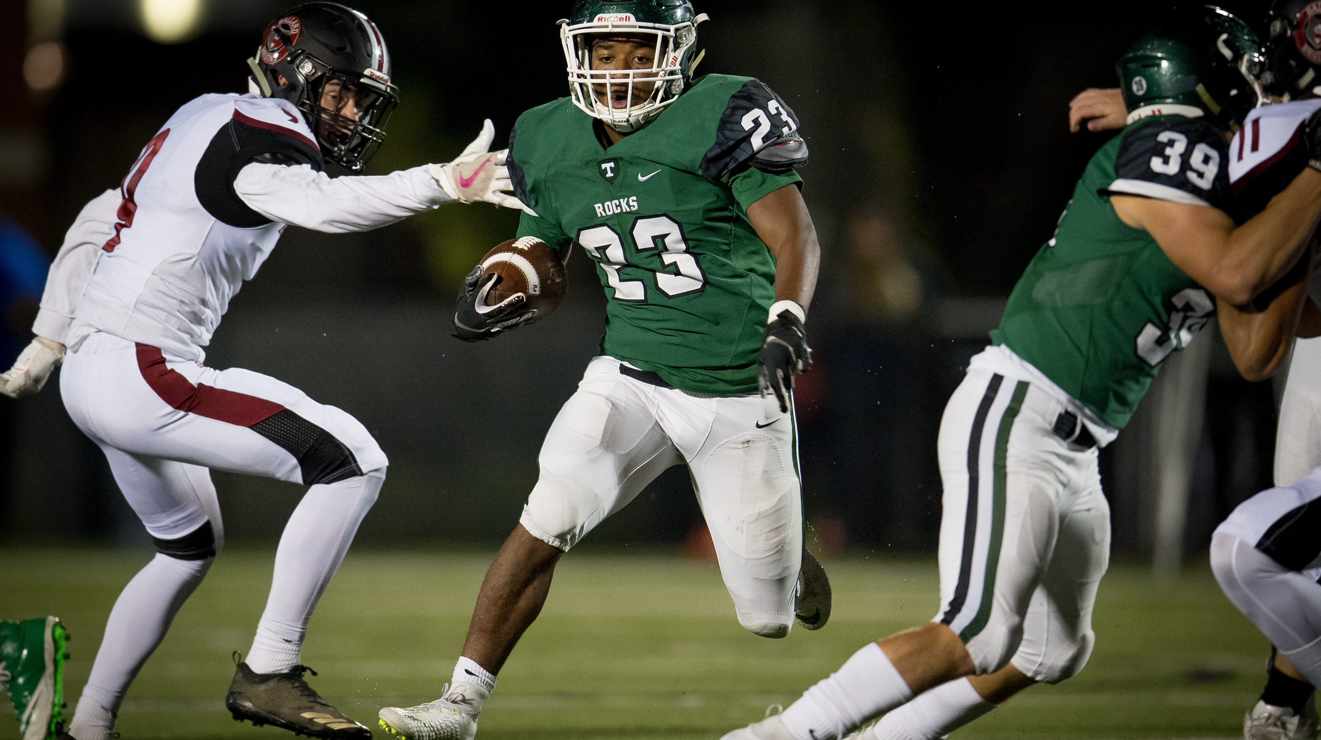 high school football: trinity continues overcoming injuries
