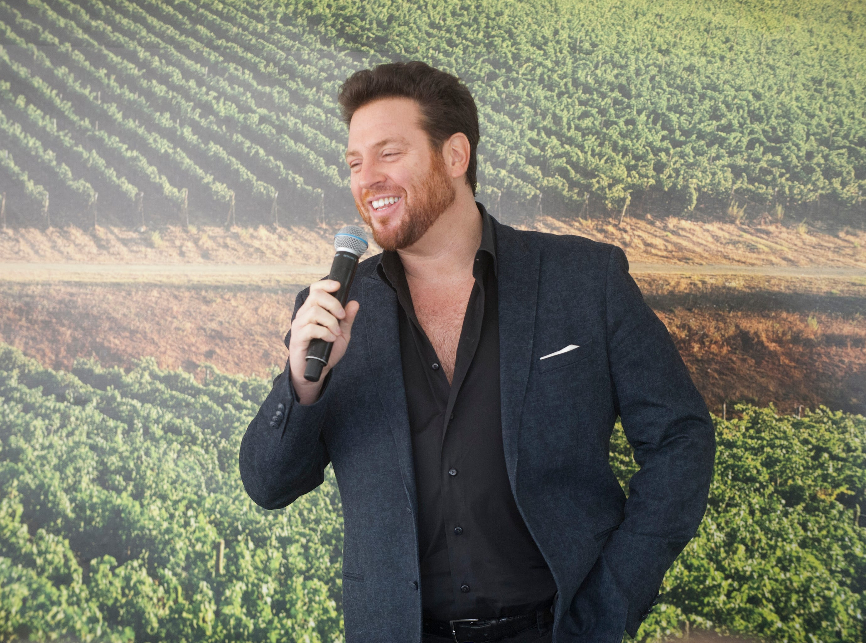"""""""Chopped"""" chef Scott Conant chats about his experiences at the Courier-Journal Wine and Food Experience at Norton Commons. October 20, 2018"""