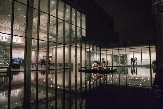 The JB Speed Art Museum was lit up late for its monthly event After Hours at the Speed