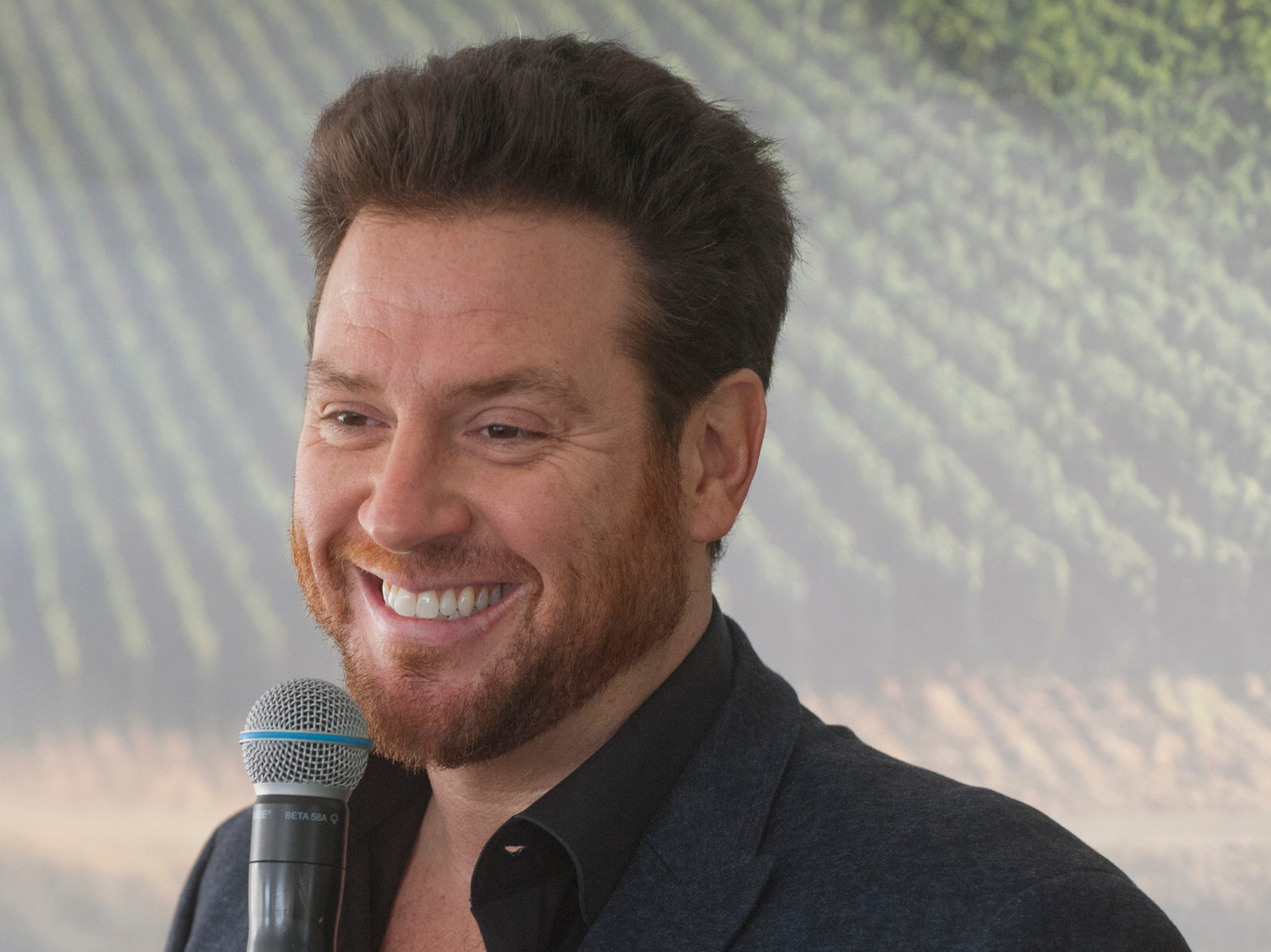 """Food Network """"Chopped"""" judge and New York City restauranteur Scott Conant answers questions of guests at the Courier-Journal Wine and Food Experience at Norton Commons.October 20, 2018"""