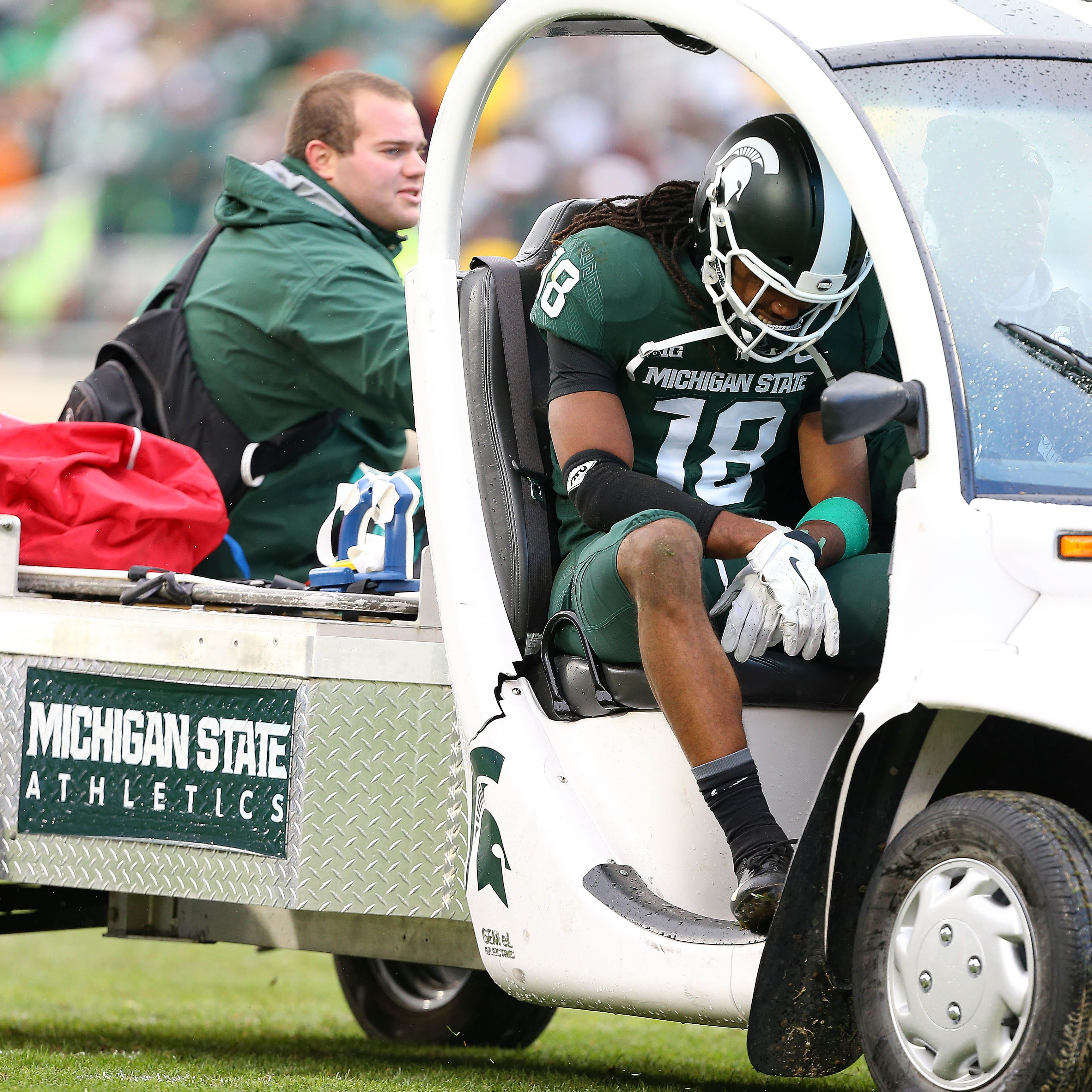 Michigan State receiver Felton Davis injured in Michigan football game