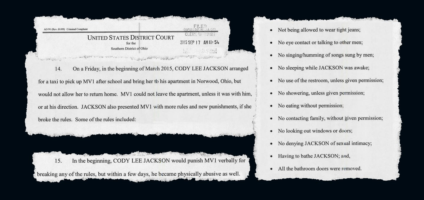 Criminal complaint from the federal case against Cody Jackson.
