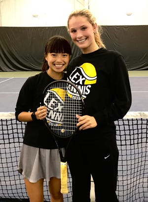 Lexington freshman Gracie Pfieffer and senior Sylvia Goldsmith earned second-team All-Ohio honors by reaching the quarterfinals Friday in the state tennis tournament
