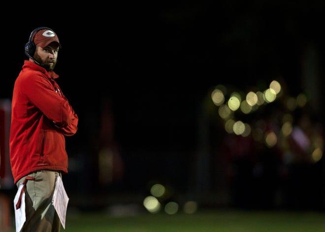 Germantown football coach Chris Smith