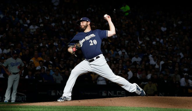 Pitcher Wade Miley was among three Brewers to file for free agency Tuesday as expected. The others were pitcher Gio Gonzalez and outfielder Curtis Granderson.
