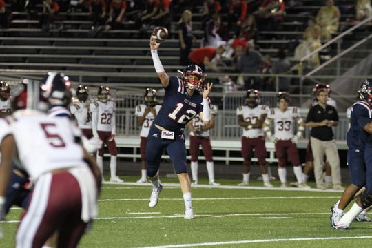 In his first year as the starter, Kahmann (12) quarterbacked the Rebels to a Class 5A runner-up finish as a junior and earned first-team All-District 2-5A and second-team All-NELA honors