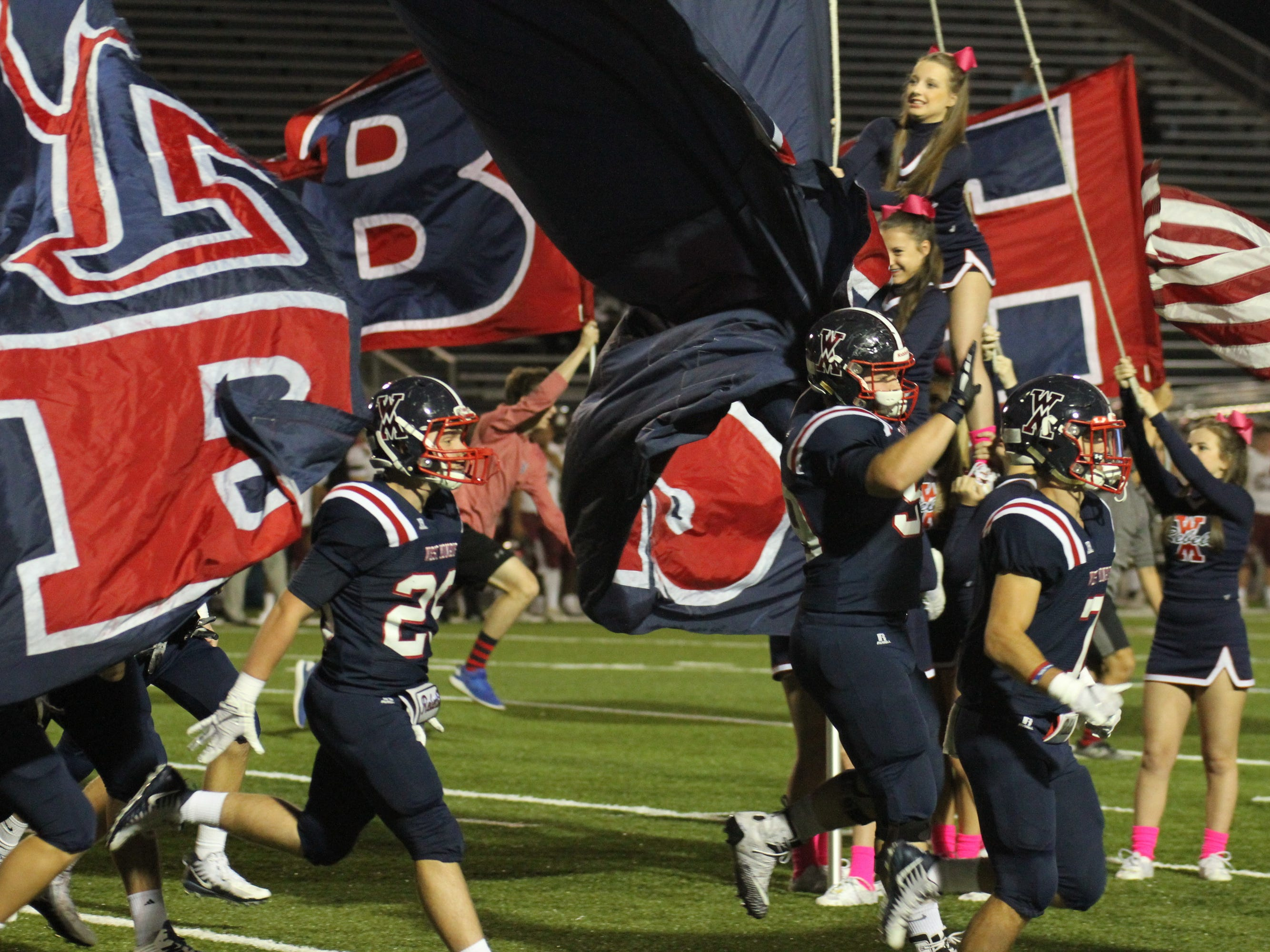West Monroe celebrates Homecoming with a district win over Pineville, 60-14 at West Monroe High School in West Monroe, La. on Oct. 19.