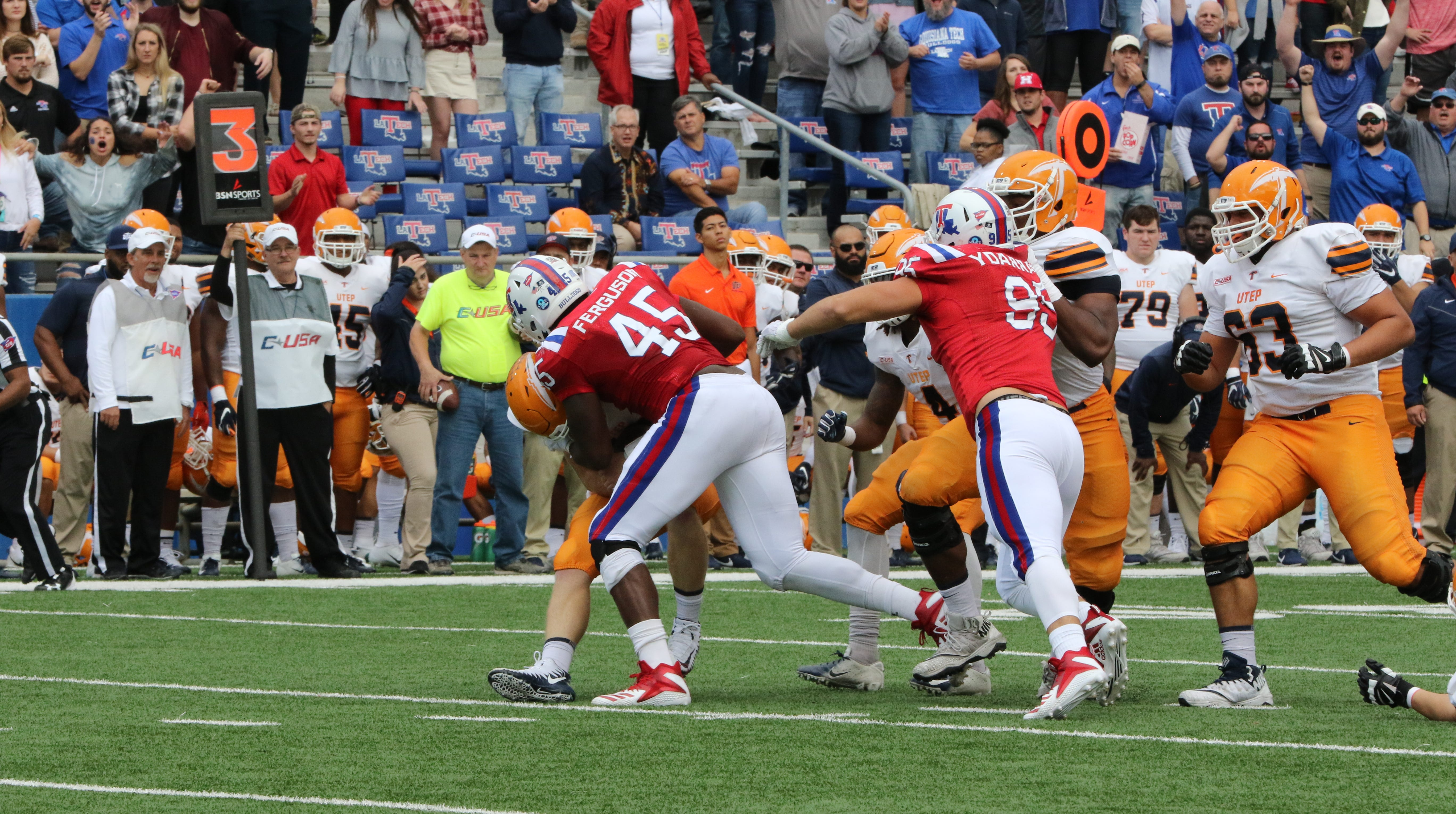 Louisiana Tech escapes winless UTEP on homecoming