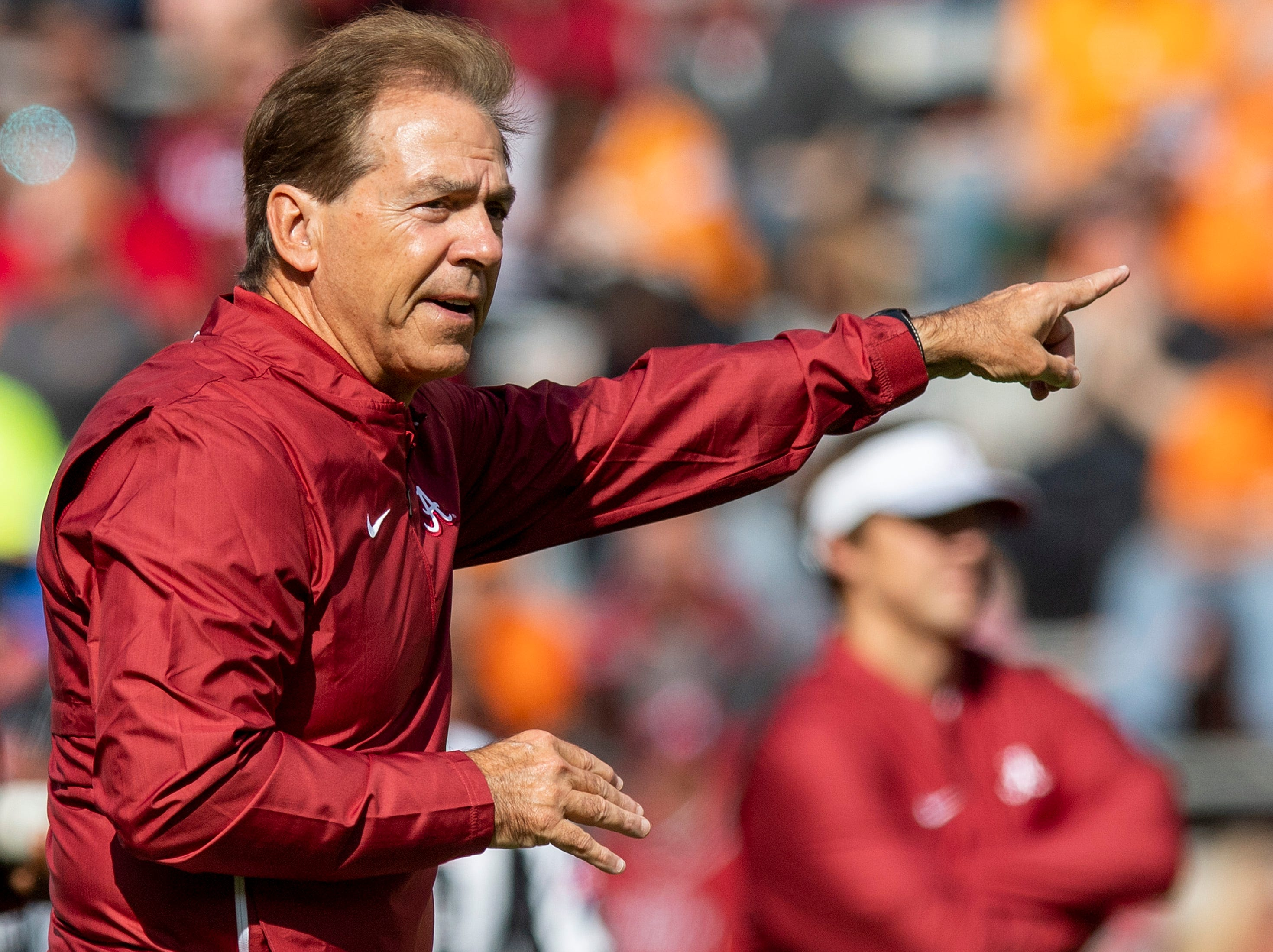 Alabama head coach Nick Saban before the Alabama vs. Tennessee game at Neyland Stadium in Knoxville, Tn., on Saturday October 20, 2018.