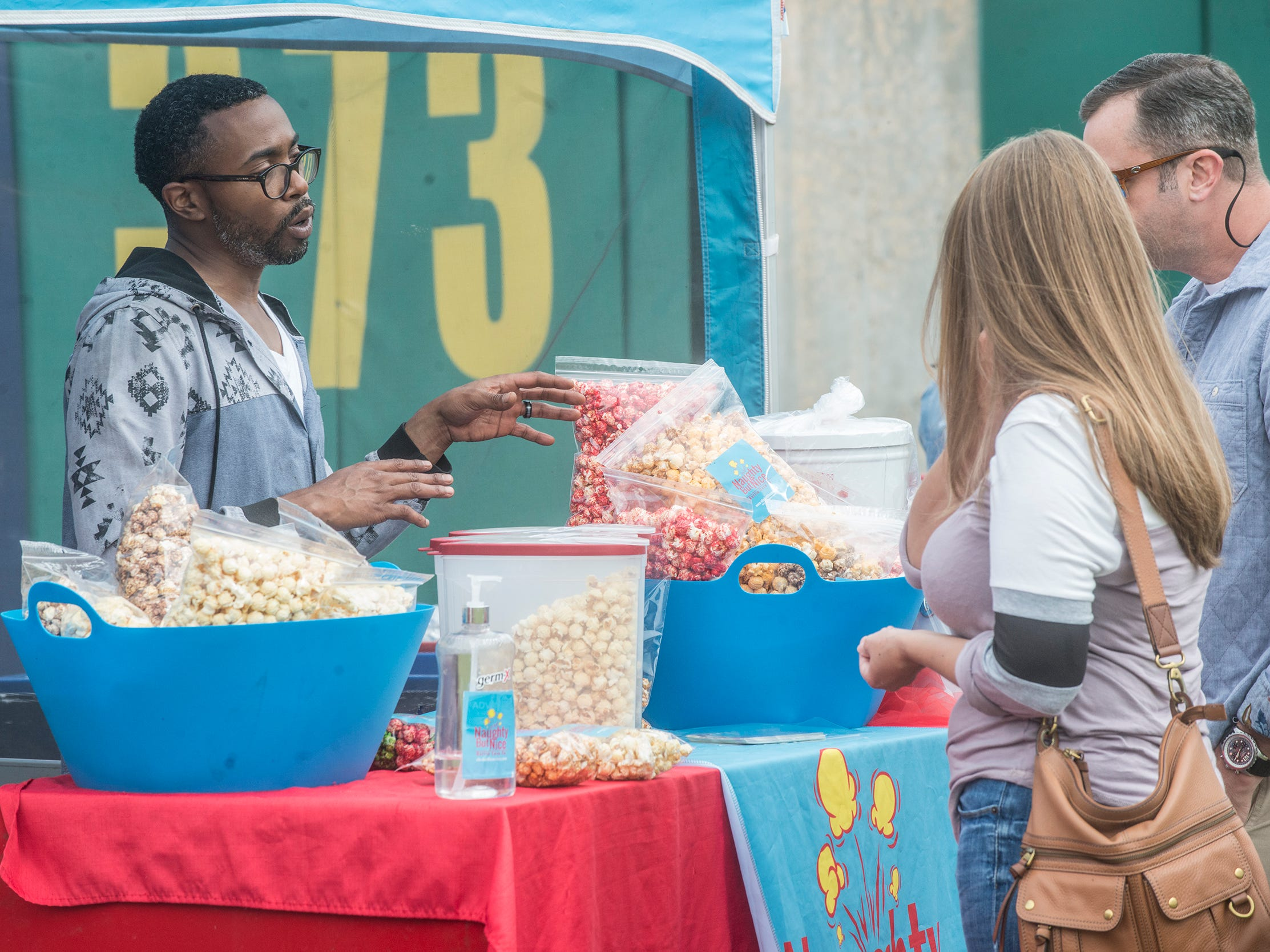 Naughty But Nice Kettle Corn: Food Truck Mash-Up returned to Riverwalk Stadium on Saturday, Oct. 20, 2018, bringing a variety of food trucks, music and games for guests to enjoy.