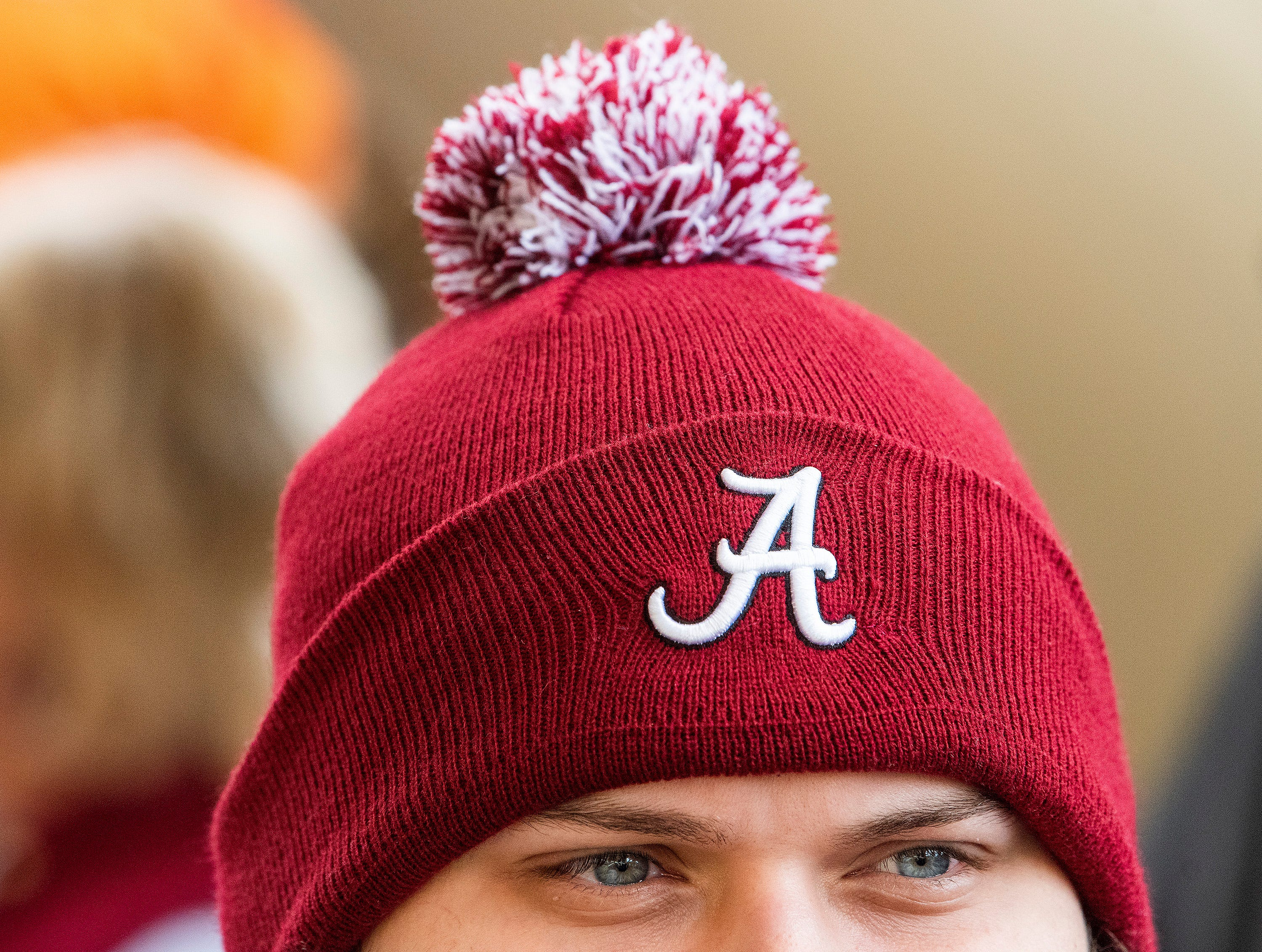 Alabama fans watch as the team arrives for the Tennessee game at Neyland Stadium in Knoxville, Tn., on Saturday October 20, 2018.