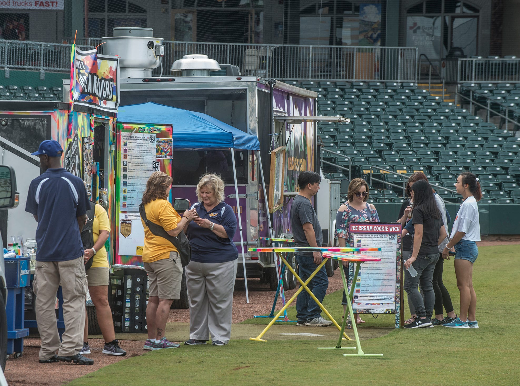 Food Truck Mash-Up returned to Riverwalk Stadium on Saturday, Oct. 20, 2018, bringing a variety of food trucks, music and games for guests to enjoy.
