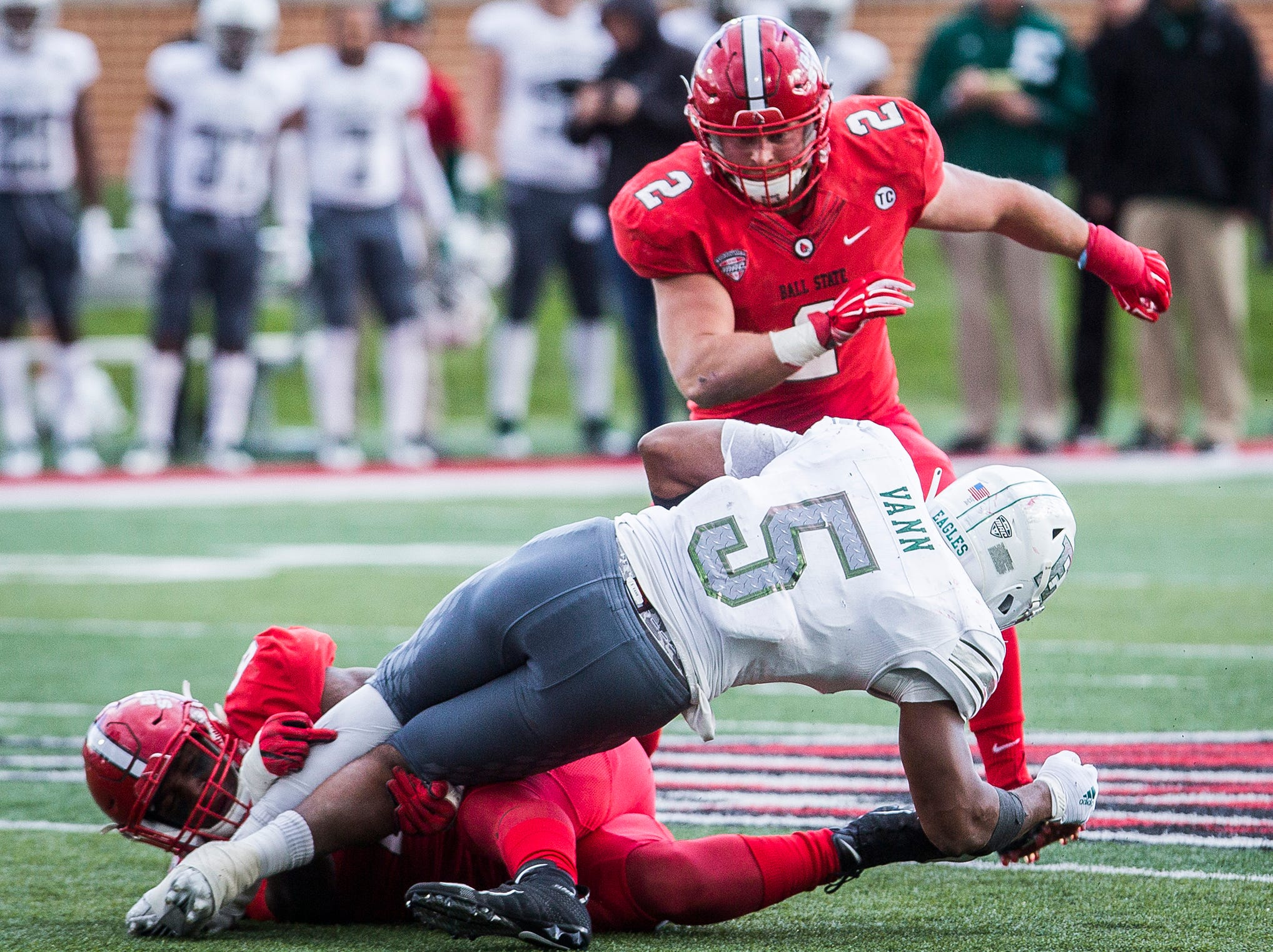 Ball State faces off against Eastern Michigan during their game at Scheumann Stadium Saturday, Oct. 20, 2018.