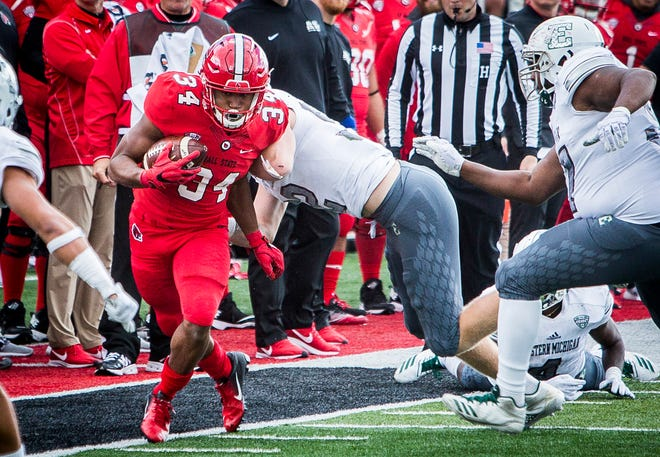 Ball State's James Gilbert, shown here against Eastern Michigan, ran for 52 yards on nine carries Thursday at Ohio.