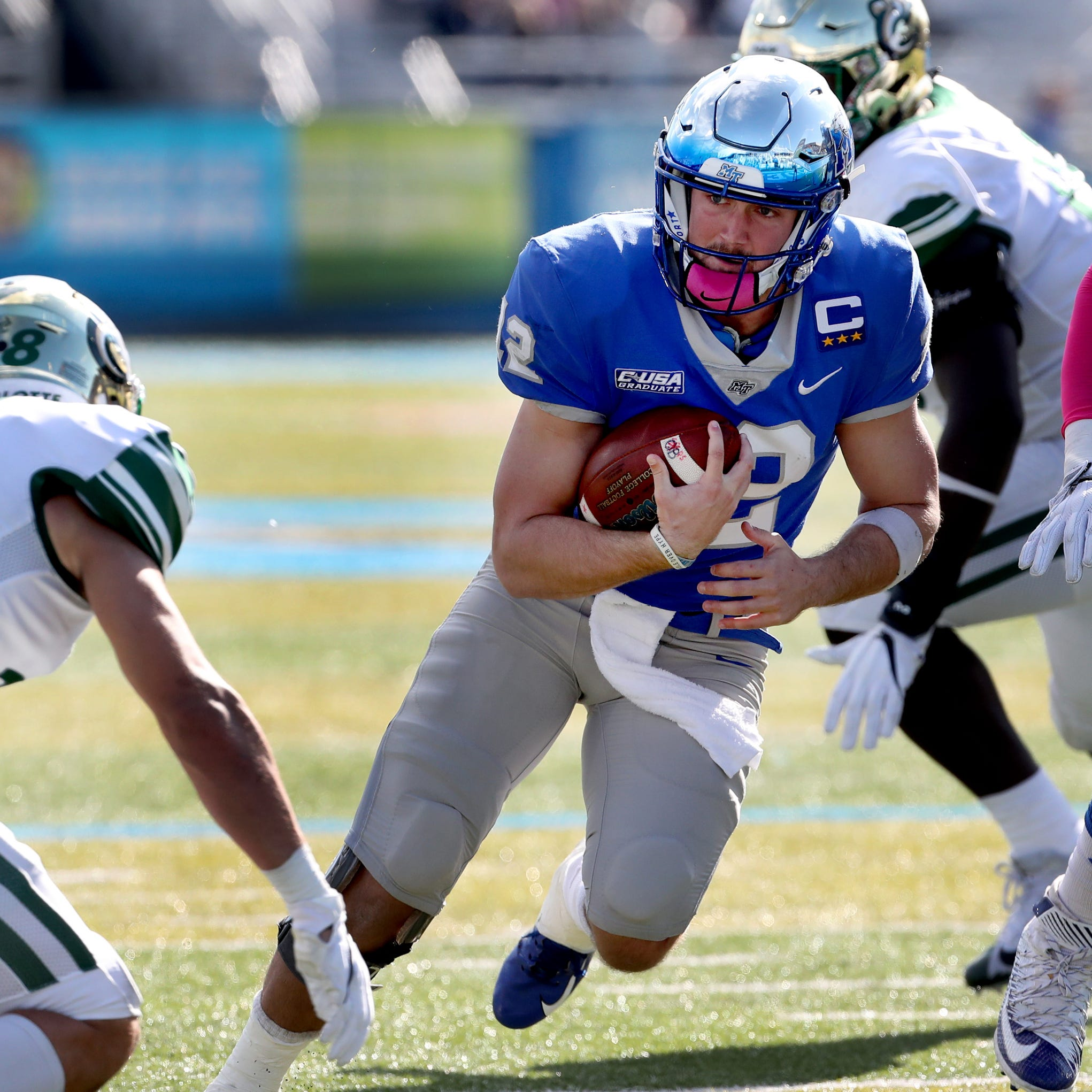 How MTSU QB Brent Stockstill shook off an ankle injury to play against Charlotte