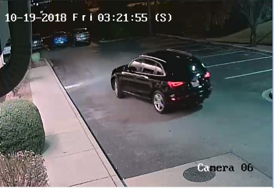 Police say this Audi SUV is a suspect vehicle in the fatal shooting outside an Antioch IHOP this week.