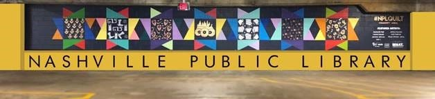 New mural at downtown Nashville Public Library