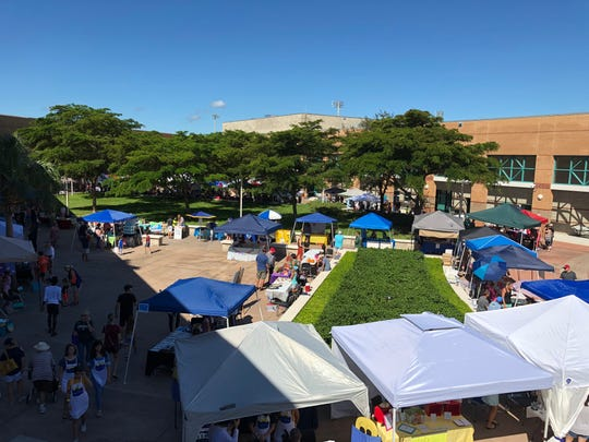 An overhead view of the Naples Children's Business Fair on Oct. 20, 2018.