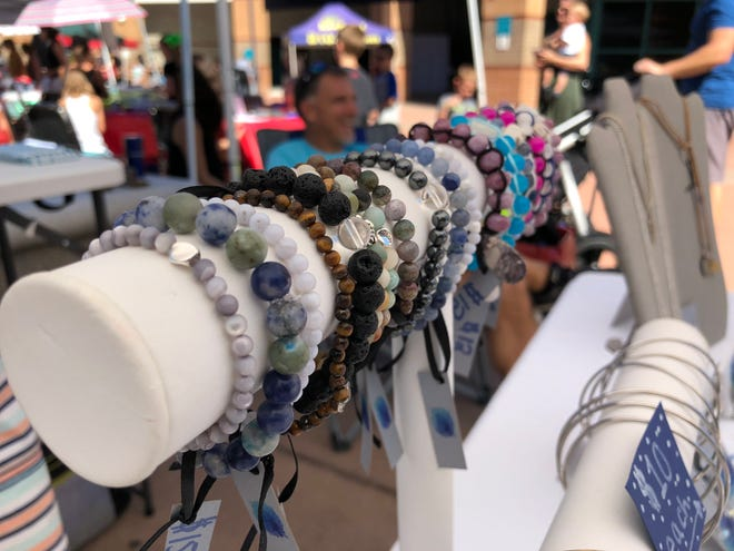 Jewelry made by Hannah Earnest for her company, Hannah Ashley Designs, sits on display at the Naples Children's Business Fair on Saturday, Oct. 20, 2018. The business fair was organized by the Greater Naples Chamber of Commerce and the Leadership Collier foundation.