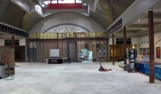 Renovation work can be seen in October 2018 in the lobby and concession area of Hollywood 20 movie theater on Naples Boulevard in North Naples that was severely damaged by Hurricane Irma in 2017.