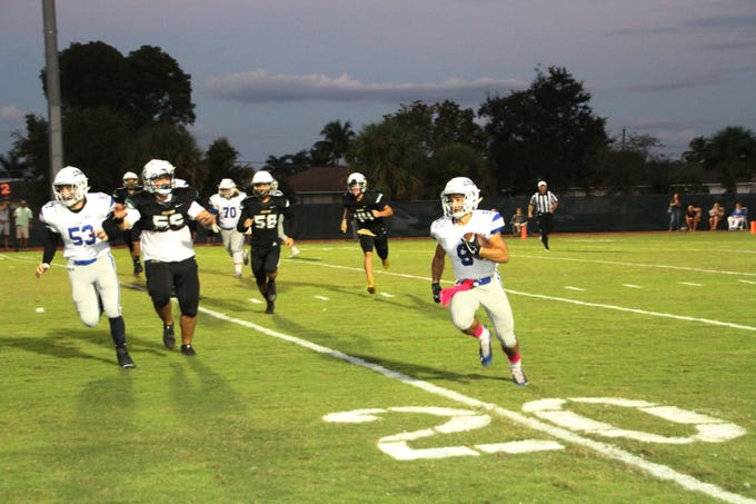 St. John Neumann defeated Community School, 48-0, at home on Friday, Oct. 19, 2018.