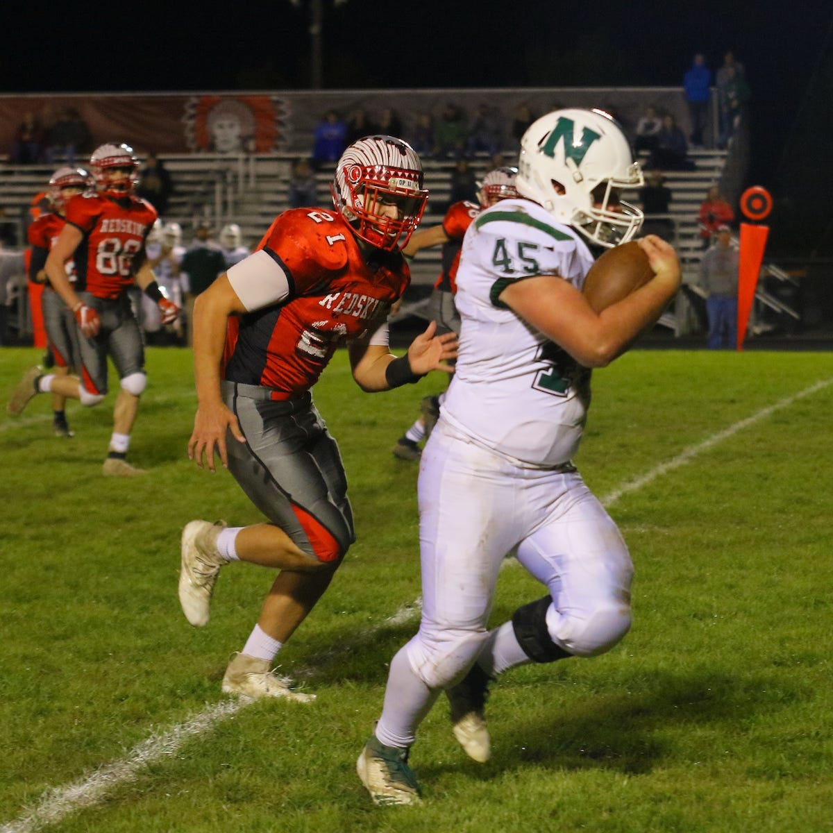 Northridge spoiled Utica's senior night with a 46-27 victory.