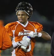 Jasiah Purdie of Hasbrouck Heights during a first half time out.