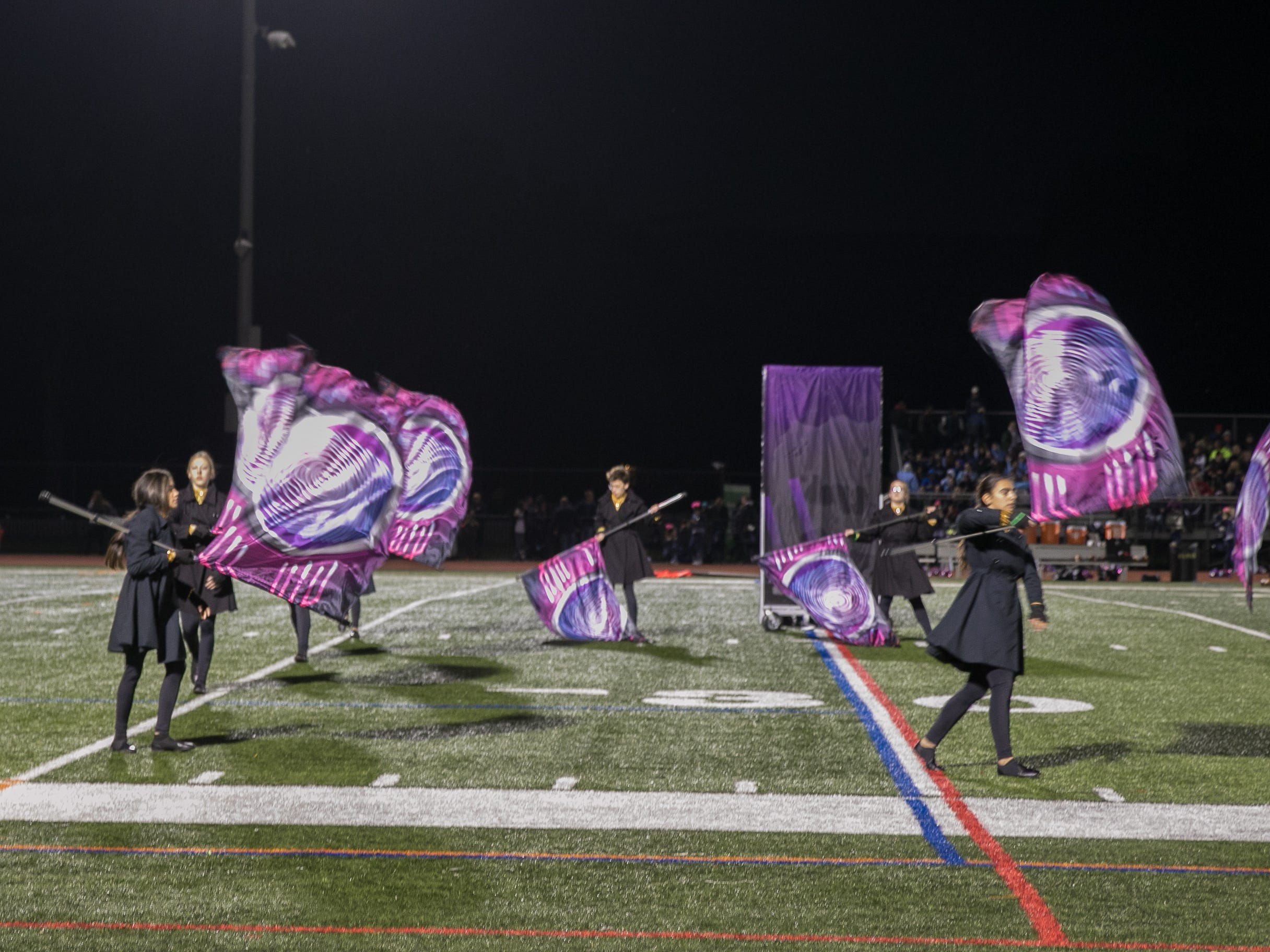 Fans at the RiverDell verses Paramus High School Football game held at RiverDell High School. 10/19/2018