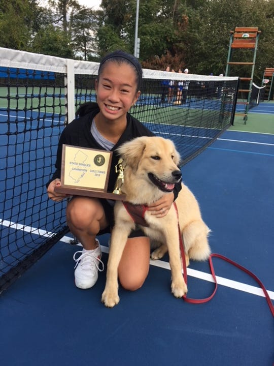 Andrea Cerdan won her second state tennis title in three years on Saturday, Oct. 20.