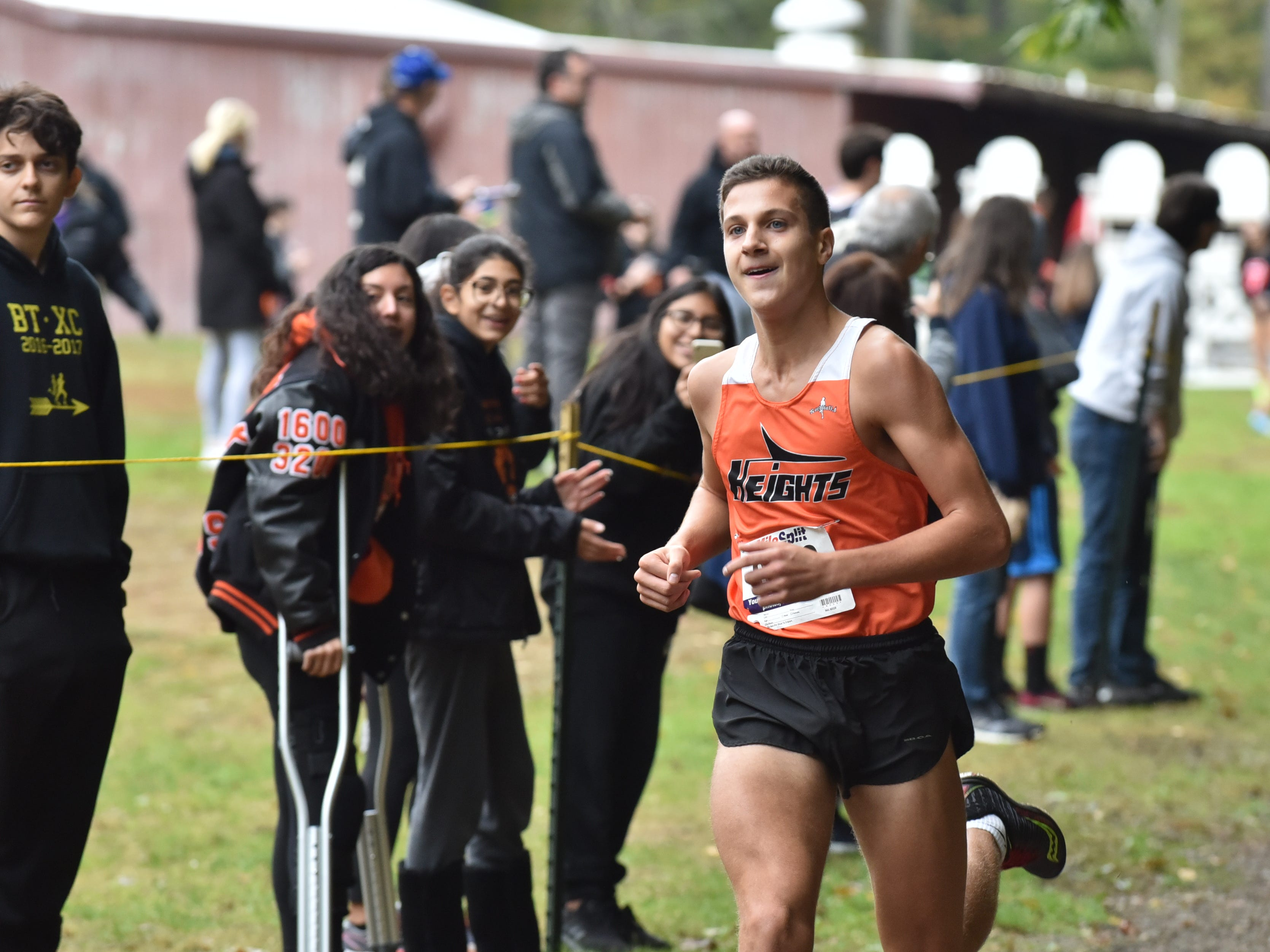 Jeremy Bailey of Hasbrouck Heights wins 3rd in Group D at the Bergen County Cross Country Championships.
