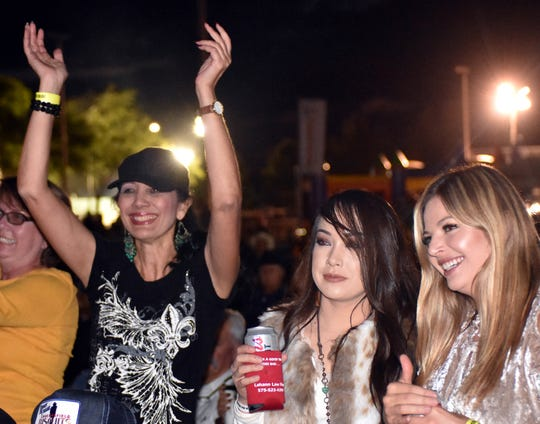 Frankie Ballard fans smile after hearing one of their favorite songs at the Las Cruces Country Music Festival on Friday, Oct. 19, 2018.