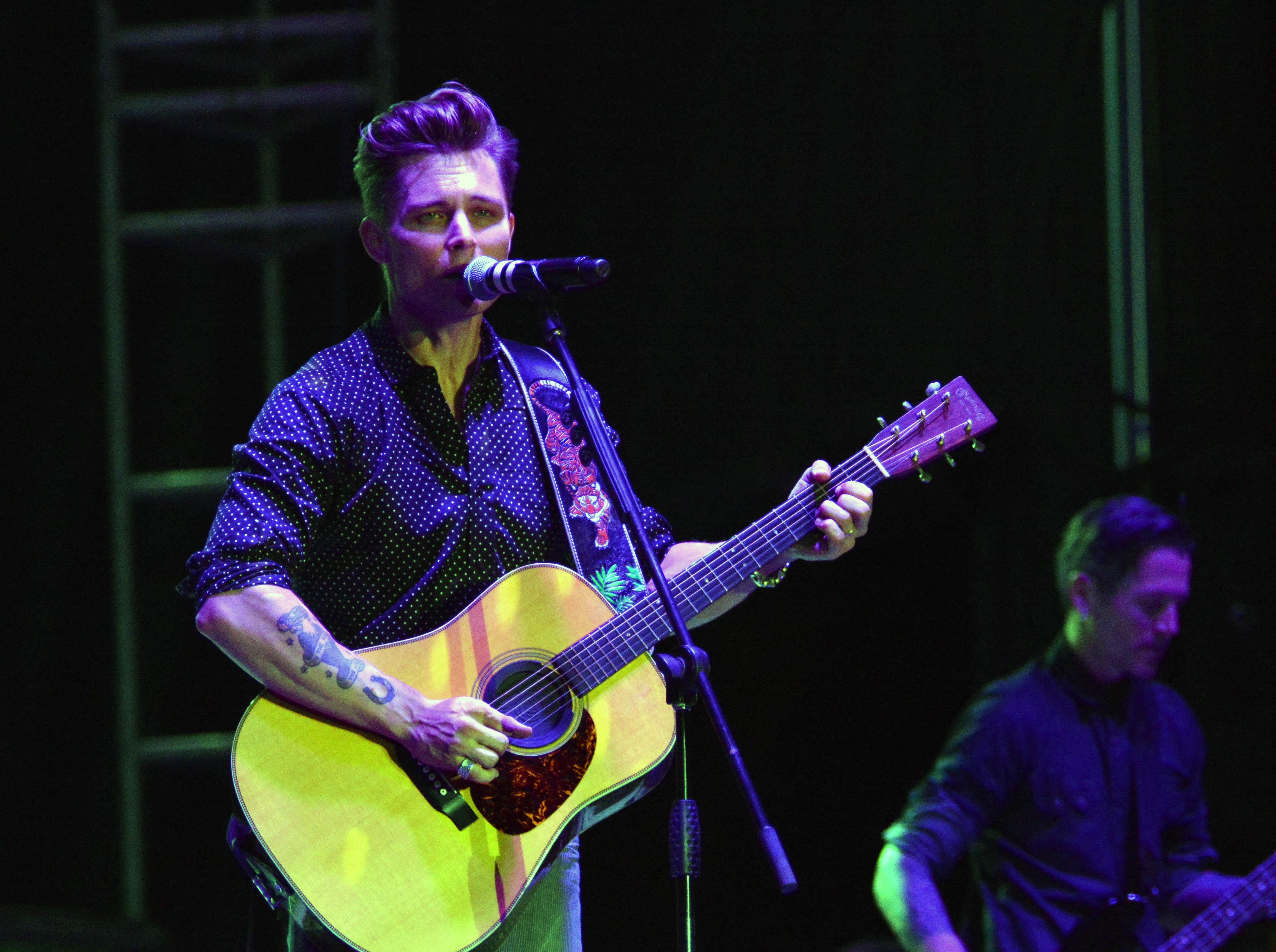 Frankie Ballard hits the Main Stage at the Las Cruces Country Music Festival on Friday, Oct. 19, 2018.