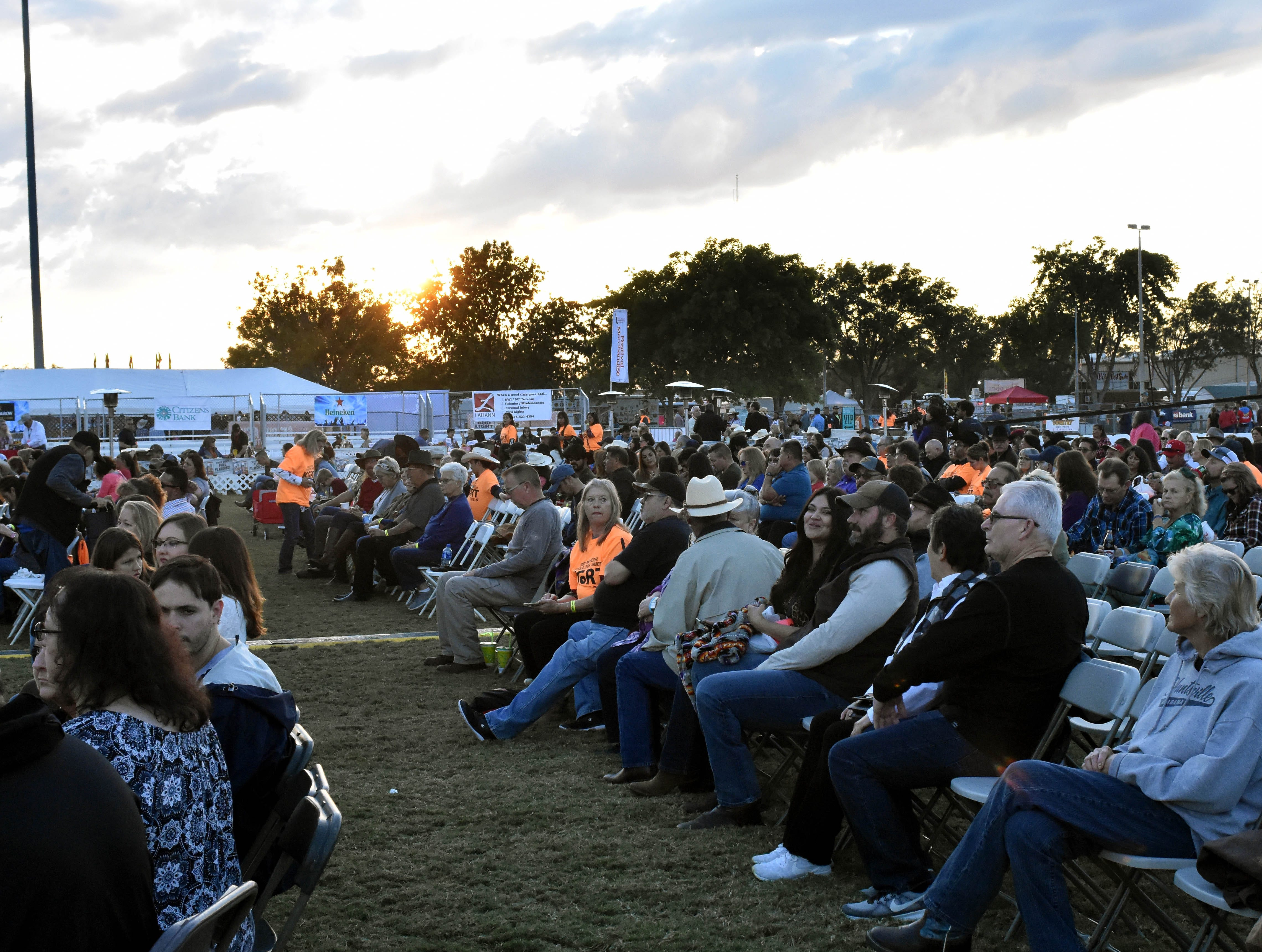 The crowd begins to gather hours before Dwight Yoakum hits the stage at the Las Cruces Country Music Festival on Friday, Oct. 19, 2018.