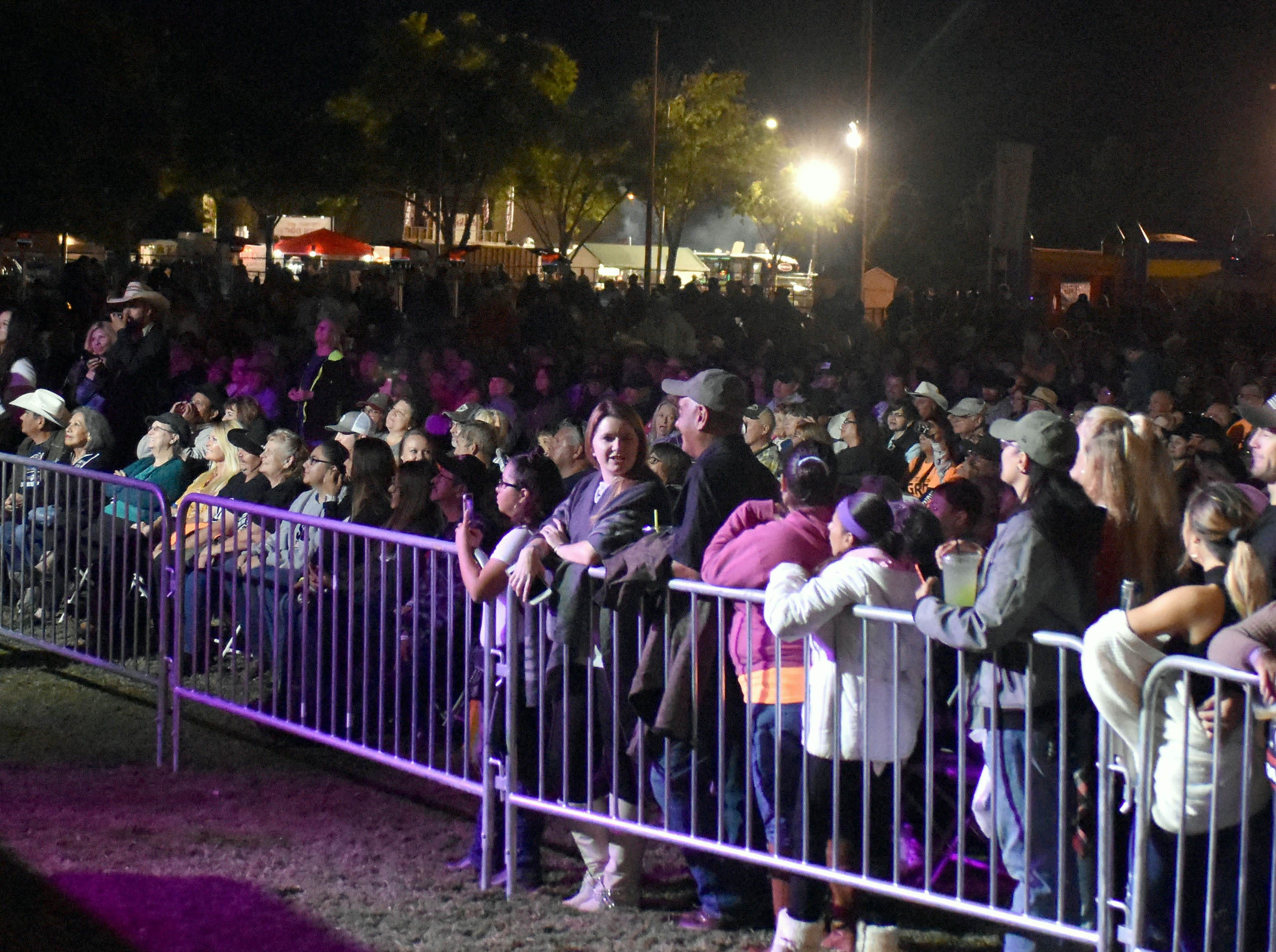 A crowd gathers to Frankie Ballard just before Dwight Yoakam hit the Main Stage at the Las Cruces Country Music Festival on Friday, Oct. 19, 2018.