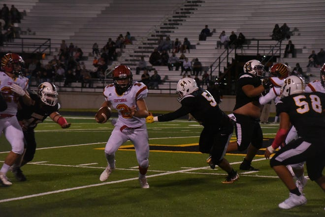 Centennial quarterback Lance Frost and the Hawks played at Hobbs on Friday night.