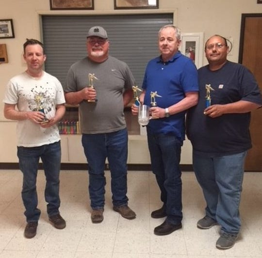 The Community Pool League's third place team winners are, pictured from left to right, Jason Casebolt, Ron Bookout, Paul Moose and Joe Herrera.