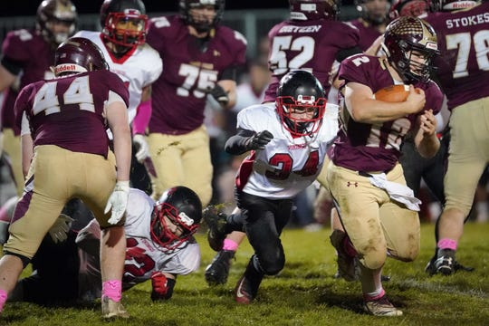 Omro's Jacob Kafer is the leader of the Foxes' rush-heavy offense.