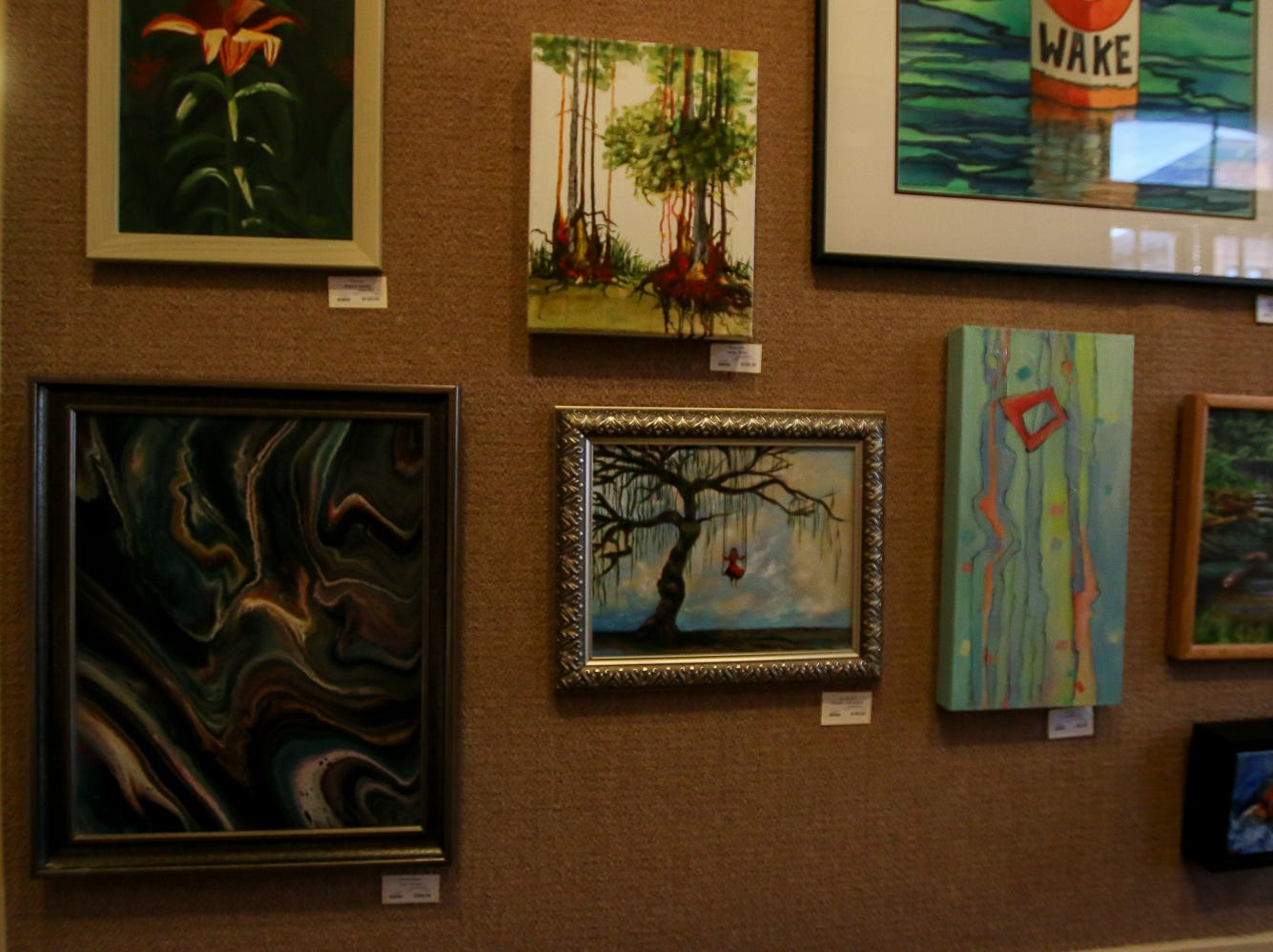 Some of the pieces on display at Quayside Art Gallery during Gallery Night on Friday, October 19, 2018.
