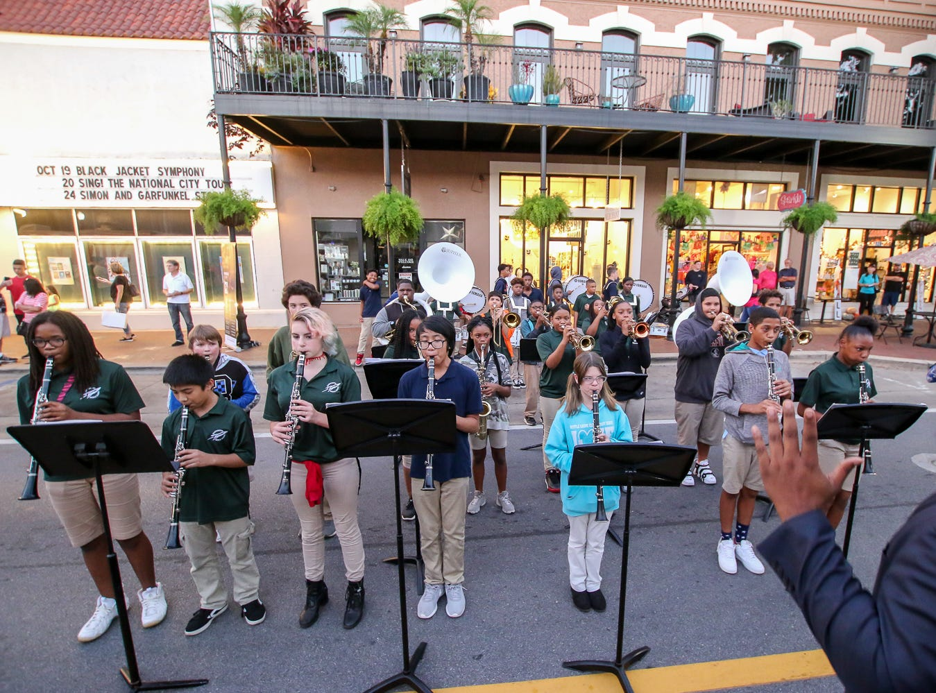 The Warrington Middle School band performs during Gallery Night on Friday, October 19, 2018.