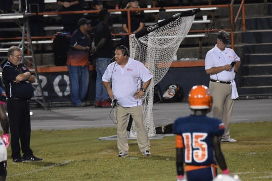 Escambia coach Mike Bennett had a tough night getting something to go right for his Gators' team.