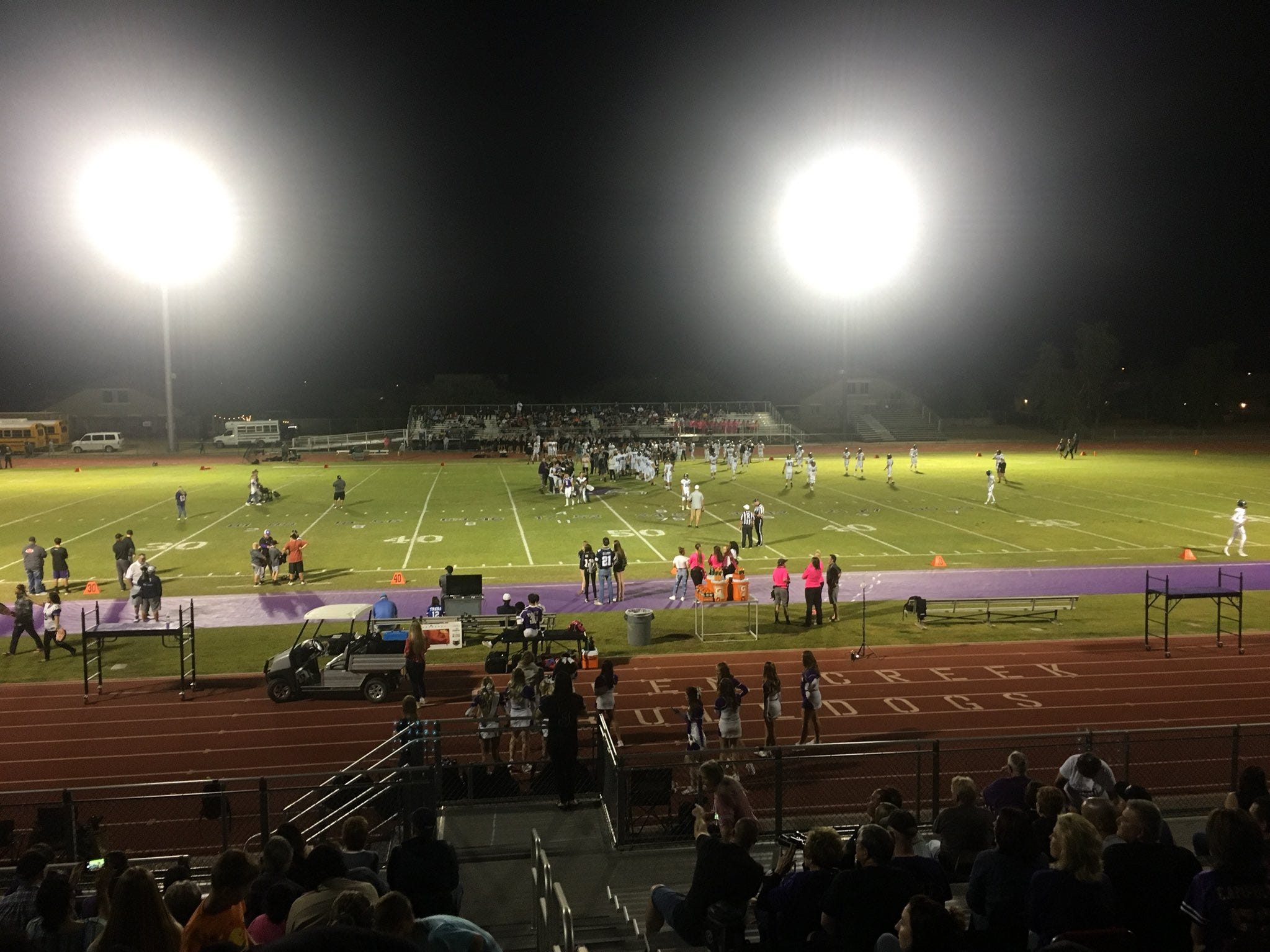 Queen Creek hosted the @azcsports Week 10 Game of the Week against Highland.
