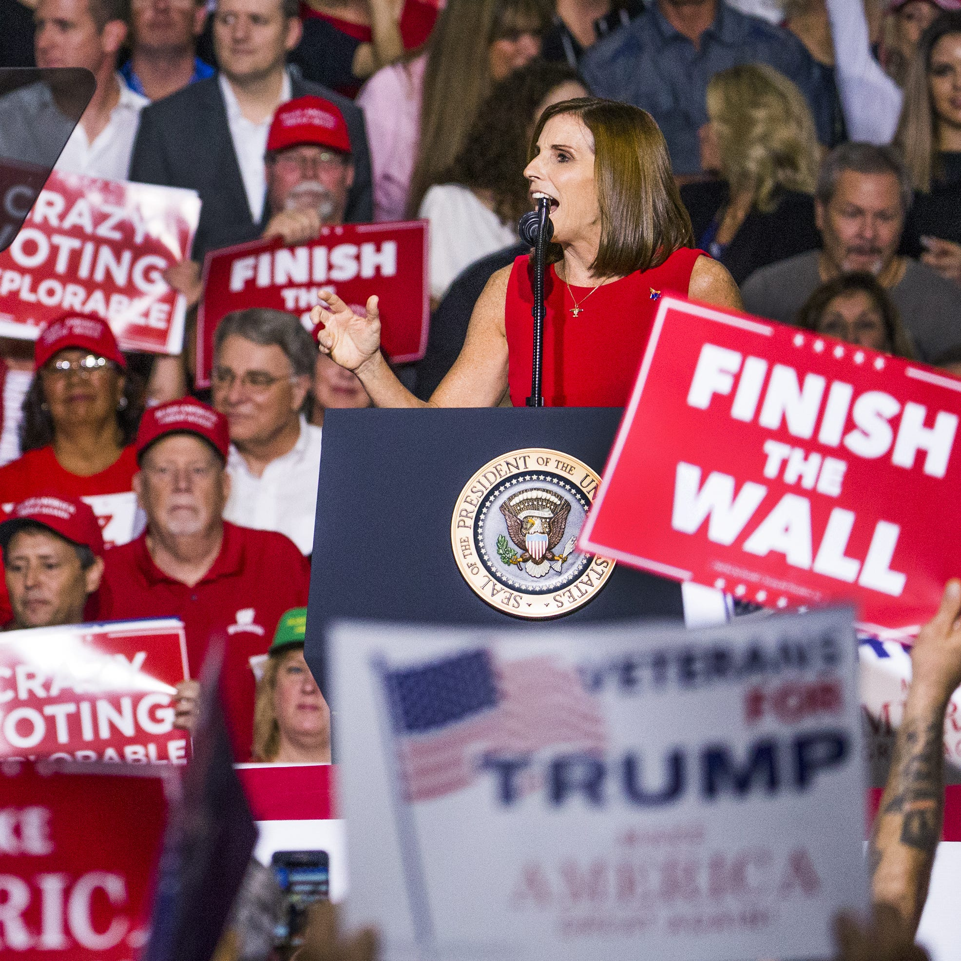 Trump rally: Trump says at Mesa rally 'Democrats produce mobs, Republicans produce jobs'